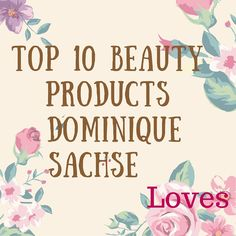 Note: This post contains affiliate links  Have you heard of Dominique Sachse? She's a journalist based in Houston, Texas, and YouTube celebrity who shares beauty and decorating tips. The reason I like her is because she's