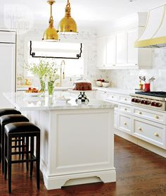 Kitchen Interior: Golden Glam Bistro