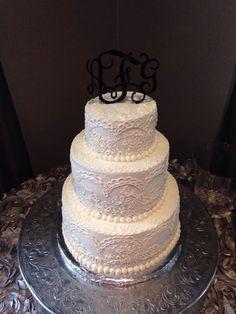 Lace Wedding Cake #macycakes