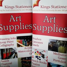 Kings Stationers have some new roller banner!  2 day delivery!  Check out all our print range online  http://ift.tt/1USvnIx  #design #print #beseenbeheard