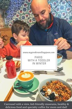 A long weekend in Paris with our toddler during wintertime: here is the complete itinerary plus all my resources for healthy food options, specialty coffee and family-friendly activities. Healthy Food Options, Healthy Recipes, Long Weekend, Winter Time, Mom And Dad, Spoon, Travel Inspiration, Travelling, Greek