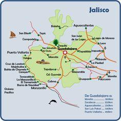 Mapa de Jalisco (Where Jose is from)
