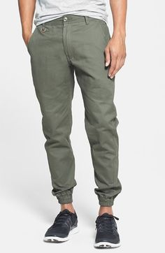 Free shipping and returns on PUBLISH BRAND Tailored Fit Jogger Chinos at Nordstrom.com. Cotton chinos are updated with elastic cuffs for comfort and cutting-edge jogger style.