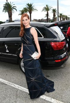 Actress Debra Messing attends the 66th Annual Primetime Emmy Awards held at the Nokia Theatre L.A. Live   Red Carpet Report Producer, jd on train to the 66th Primetime Emmy Awards  Before the Celebrities arriving at the 66th Emmy Awards hit the Red Carpet... #Chauffeur #Transportation #Audi #Photos #Emmys http://www.redcarpetreporttv.com/2014/08/26/before-the-celebrities-arriving-at-the-66th-emmy-awards-hit-the-red-carpet-chauffeur-transportation-audi-photos/