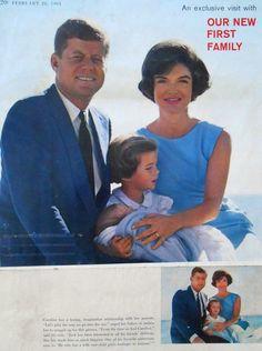 1961. Jack, Caroline et Jackie.
