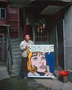 Featuring a copy of Roy Lichtenstein's The Melody Haunts My Reverie Wolf Photography, Photography Series, Roy Lichtenstein, Robert Doisneau, Michael Wolf, Asian Studies, Original Copy, Reproduction, Weird World