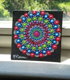 Check out this item in my Etsy shop https://www.etsy.com/listing/539607213/canvas-mandala-dot-art-hand-painted-home