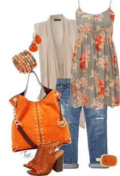 """""""Floral, Lace and Distressed"""" by tinarie on Polyvore"""