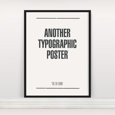 Another Typographic Poster / by Anthony Oram