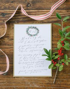 winter wedding invitations, photo by Emilie Ann Photography http://ruffledblog.com/christmas-tree-farm-wedding-inspiration #stationery #weddinginvitations