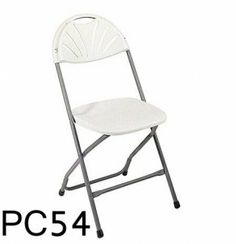 Expanded Back Molded Folding Resin Chair PC54 (four pack) SKU: PC54 - Durable Construction  - Light Weight Sleek Design  - Powder Coated Tubular Frame  - Ideal for Indoor or Outdoor use  - Easy Storage  - 4 Per Carton  Availability: 1 Color(s) Available Pricing: $89.99