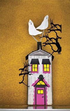 Eerie Milk Carton Haunted House - Halloween #DIY How-To!