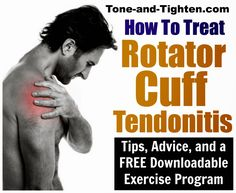Shoulder pain? Feel better now with tips, advice and a FREE downloadable exercise program from the Doctor of Physical Therapy at Tone-and-Tighten.com Best At Home Workout, At Home Workouts, Doctor Of Physical Therapy, Physical Therapist, Arthritis, Dor Cervical, Rotator Cuff Exercises, Neck Exercises, Neck Stretches