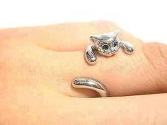 Cute cat ring :3 need it!!!!!!!