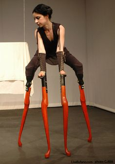 Lisa Bufano is an interdisciplinary artist and a performer, originally from Boston, Massachusetts, who often uses prosthetics and props in her work.
