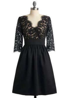 black lace dress. Do want.