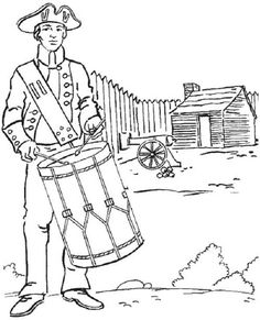 American Soldier Fight For Independence Day Coloring Pages - Download & Print Online Coloring Pages for Free | Color Nimbus