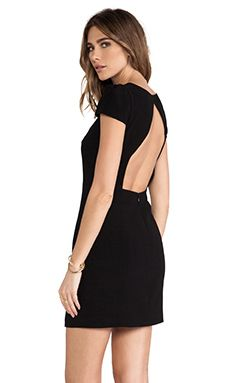 Tibi Bibelot Open Back Dress in Black & Nude | REVOLVE
