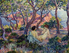 In the Shade of the Pines,by Theo van Rysselberghe