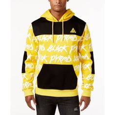 Black Pyramid Men's Text Hoodie ($52) ❤ liked on Polyvore featuring men's fashion, men's clothing, men's hoodies, gold, mens hoodie, mens hoodies, mens sweatshirts and hoodies and mens hooded sweatshirts