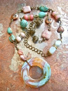 Cotton Candy Necklace  www.silhouettejewelrydesign.com