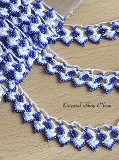 特別価格★オヤレース。トルコ独特のオヤスカーフやオヤ糸、雑貨・ジュエリーなどを豊富に通販しておりますのでごゆっくりご覧下さい。 Seed Bead Necklace, Diy Necklace, Seed Beads, Crochet Necklace, Necklace Ideas, Needle Lace, Diamond, How To Make, Jewelry