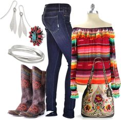 """""""Saltillo Blouse & Jeans"""" by clothes2love ❤ liked on Polyvore"""