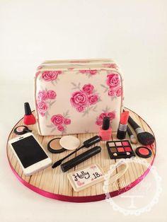 """Cosmetic Bag"" 18th,Birthday Cake"