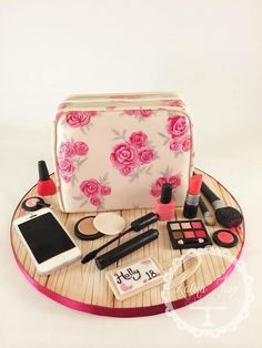 """Cosmetic Bag"" 18th,Birthday Cake"