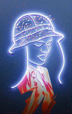girl #neon