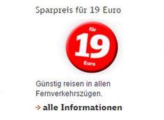 """Deutsche Bahn: Mit dem Sparpreis für 19 Euro quer durch Deutschland https://www.discountfan.de/artikel/reisen_und_bildung/deutsche-bahn-sparpreis-19-euro.php Er ist wieder da: Die Deutsche Bahn hat für wenige Wochen den """"Sparpreis für 19 Euro"""" wieder aufgelegt. Buchbar sind die Tickets ab sofort, die Reise muss bis zum 19. September 2016 abgeschlossen werden. Deutsche Bahn: Mit dem Sparpreis für 19 Euro quer durch Deutschland (Bild: Ba... #Bahn, #Banticket,"""