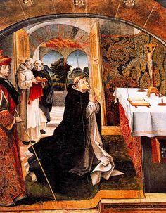 Visión de Santo Tomás de Aquino (Berruguete, Convento Santo Tomás, Avila)