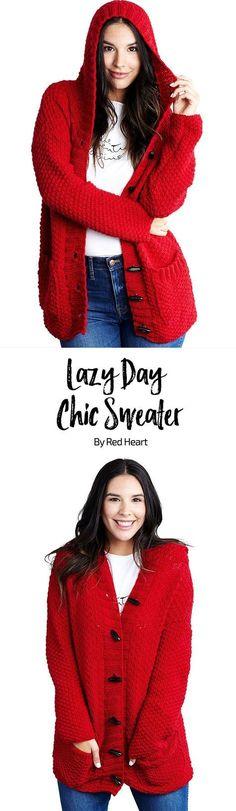 Lazy Day Chic Sweater free knit pattern in Chic Sheep Merino Wool yarn by Marly Bird.