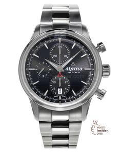 "The Alpina ""Alpiner"" Automatic Chronograph. The essence of Swissness. The elegance of Sports. Swiss Made."