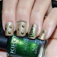 Gold and Green Glitter