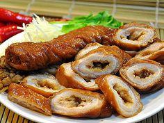 台中 大甲小吃‧小胖大腸麺線 醤油煮込み大腸 From大台灣旅遊網