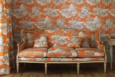 Manuel Canovas breathes new life into their toile collection with pops of color.