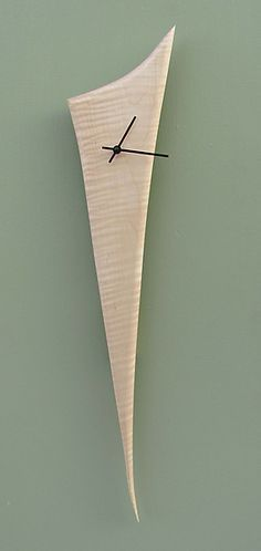 Stake Clock: Steve Uren: Wood Clock | Artful Home : More Pins Like This At FOSTERGINGER @ Pinterest
