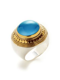 Gili Dyed Blue Chalcedony Cocktail #Ring by Anna Beck #Jewelry  http://fashioncherry.co/