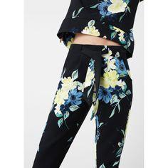 Pantalon imprimé floral noir Mango   La Redoute Printed Trousers, Trousers  Women, Floral Prints d5ff3b5942cb