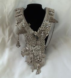 Statement Wedding Necklace Large custom by HopscotchCouture, $1277.00