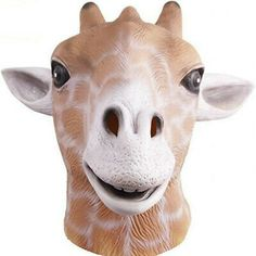 Molezu Halloween Realistic Eco-friendly Latex Mask Cute Animal Giraffe Head Mask | eBay
