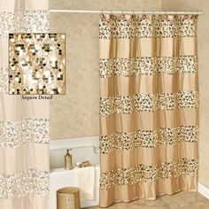Prestigue Champagne Gold Sequined Shower Curtain within sizing 2000 X 2000 Gold Sequin Shower Curtain - Lace shower curtains are all wonderful to have, Sequin Shower Curtain, Green Shower Curtains, Gold Curtains, Shower Curtain Hooks, Modern Bathroom Decor, Bathroom Sets, Bathtub Decor, Bathtub Ideas, Small Bathroom