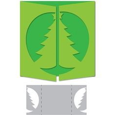 Silhouette Design Store: christmas tree gate-fold card
