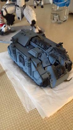 Space wolves vindicator custom made fr.o.m. Parts gunship made by Chris Damion agardson