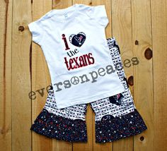 HOUSTON TEXANS 2Pc Ruffled Outfit for Infants and by eversonpeaces, $42.98