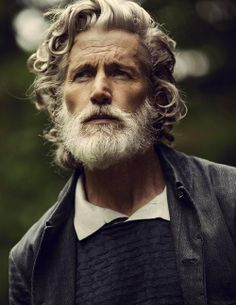 "jefscom: "" beardbrand: "" Uniforms for the Dedicated featuring Aiden Shaw, posted by beyondfabric "" I've said it before, but Aiden Shaw has aged beautifully. Yes, he looks much older than he. Hair Men Style, Hair And Beard Styles, Long Hair Styles, Beard No Mustache, Moustache, Aiden Shaw, Grey Beards, Look Man, Men With Grey Hair"