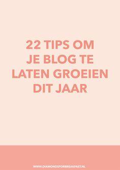 Wil je meer uit je blog halen en je blog laten groeien? Begin dit jaar dan goed met deze 22 handige tips om je blog te laten groeien.