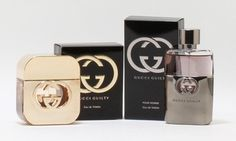 Both the men's and women's variations of the Gucci Guilty fragrance have citrus top notes, a floral heart, and a base of lingering patchouli