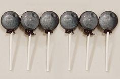 6 Death Star Lollipops Edible Art Size is 15 by designerlollipop, $13.00